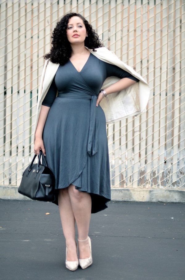 Tanesha Awasthi - Girl with curves Wrap-dress