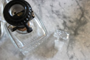 Thrifted Genius: Glass Decanter Lamp