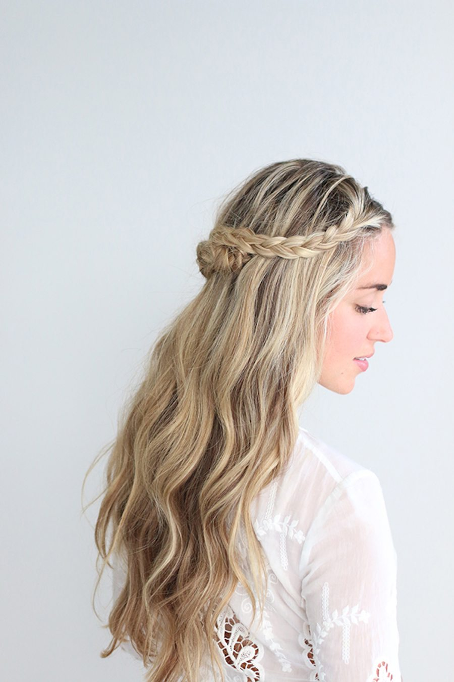 hair plait styles step by step an easy braided crown tutorial 7730