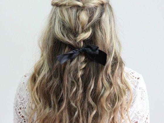 Fall Hair Tutorial Braided Bow