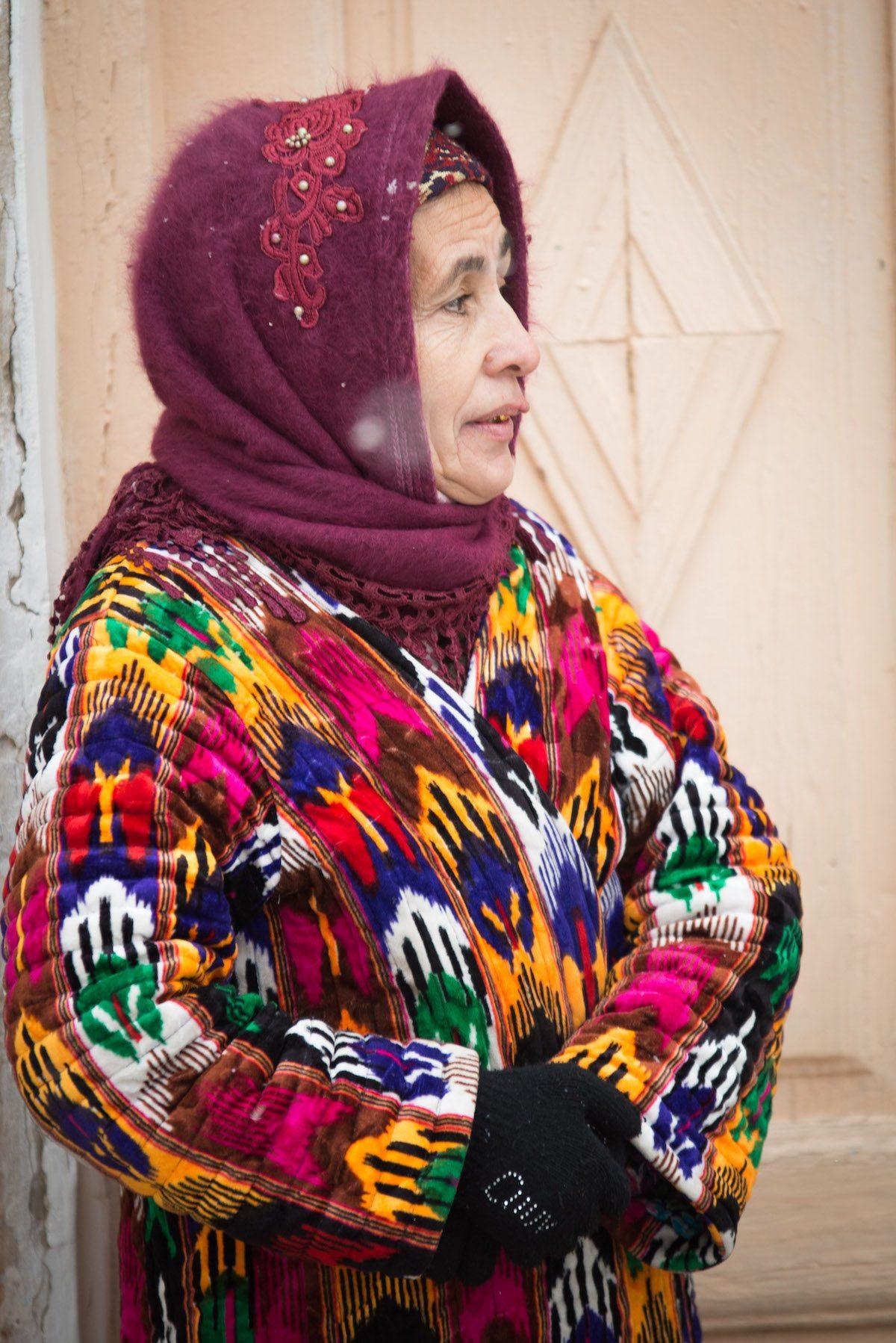 bright coat woman