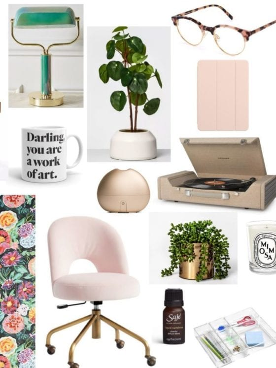 A collage of household items