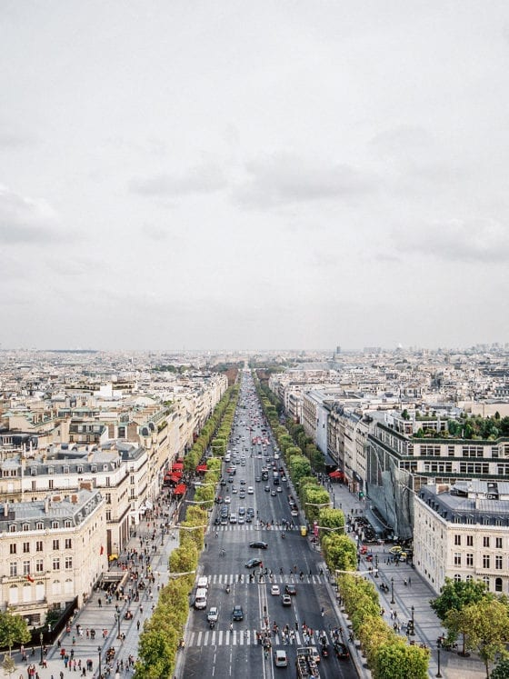 An aerial view of the Paris skyline during the daytime