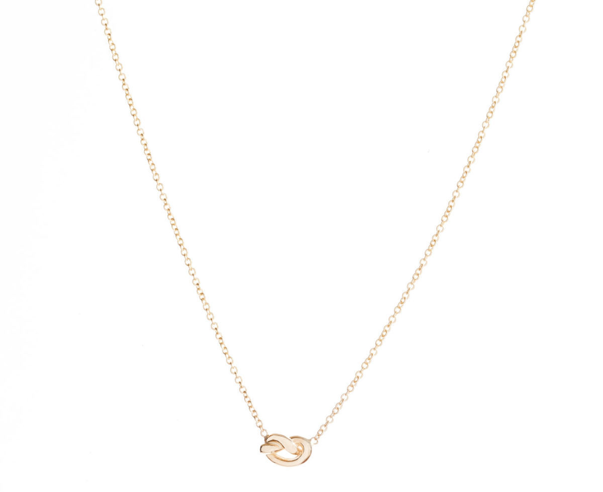 A knot gold necklace